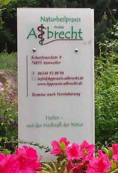Praxischild Albrecht